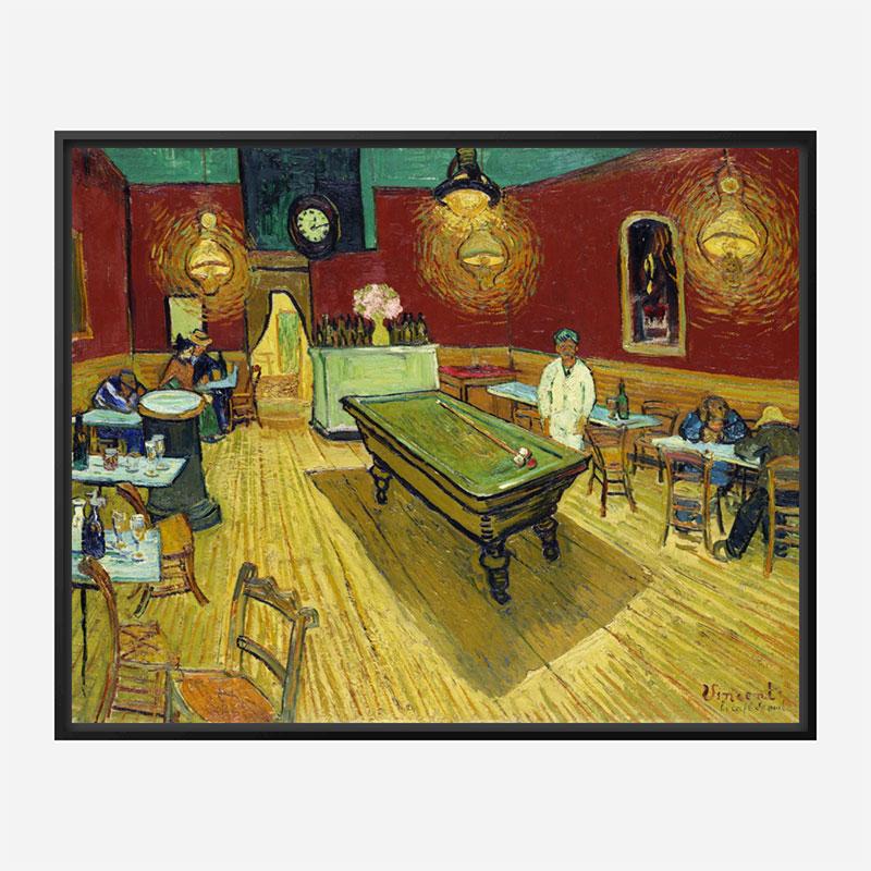 Le cafe de nuit by Vincent Van Gogh Art Print