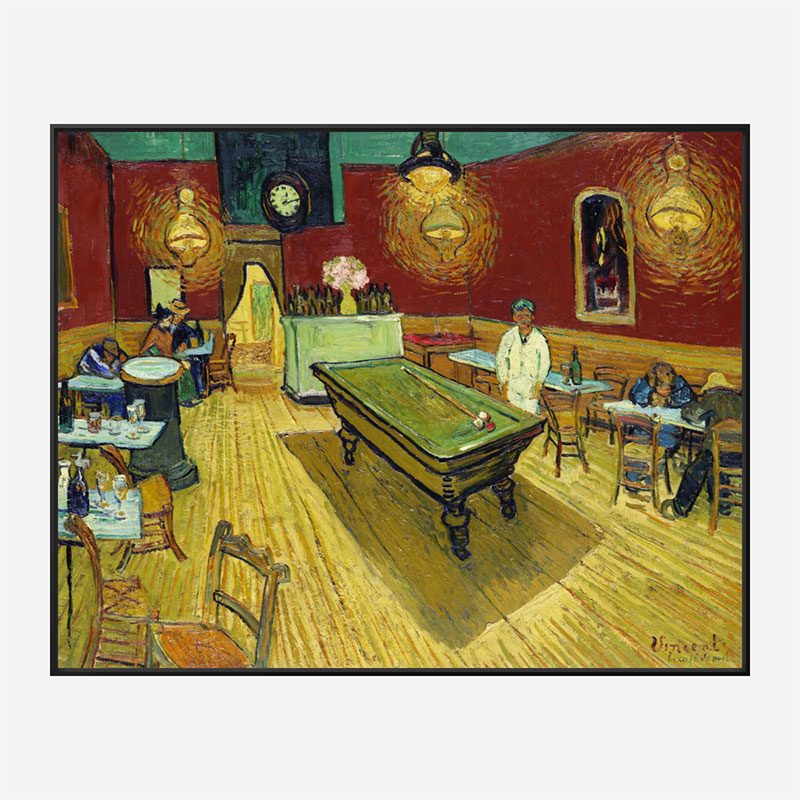 Le cafe de nuit by Vincent Van Gogh Art Print