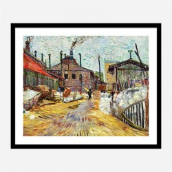 The Factory by Vincent Van Gogh Art Print