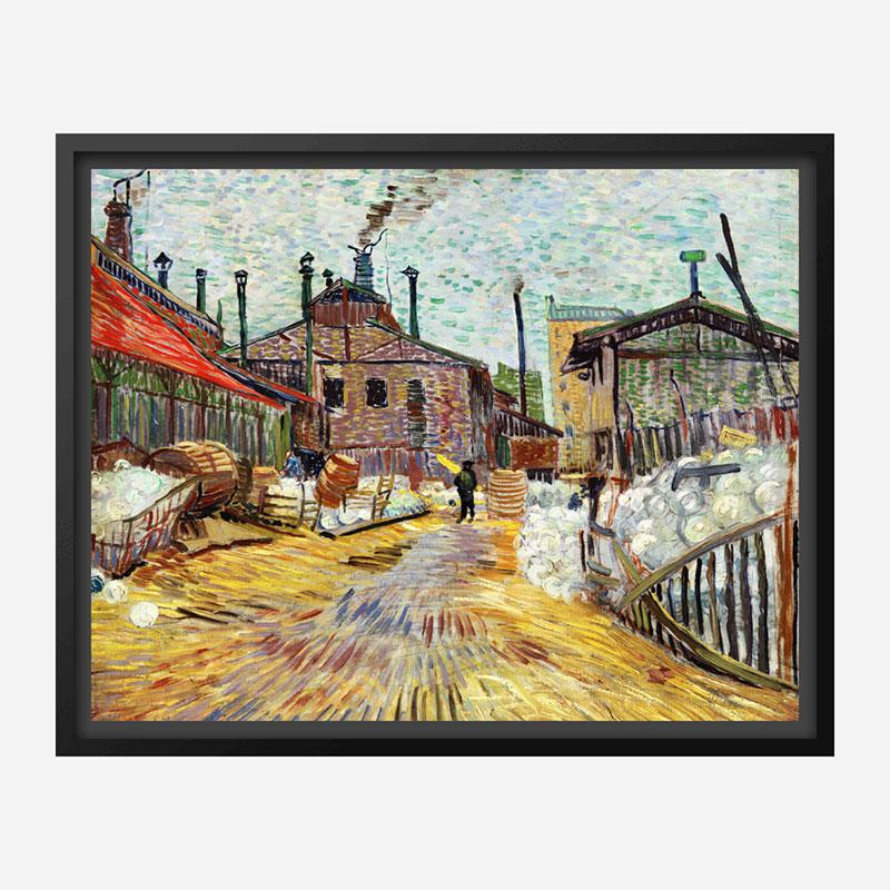 The Factory by Vincent Van Gogh Art Print