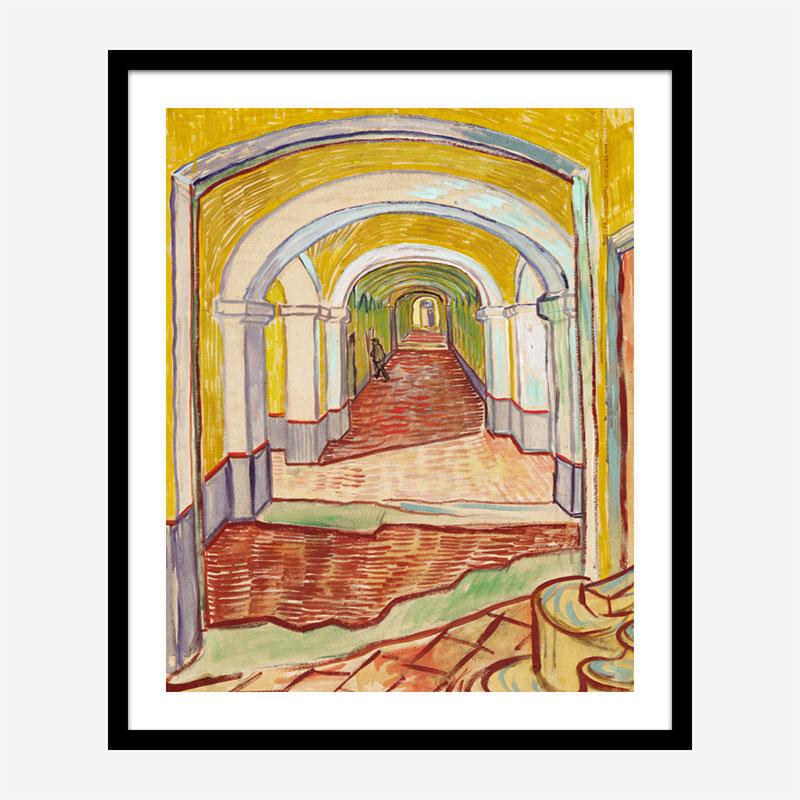Corridor in the Asylum by Vincent Van Gogh Art Print