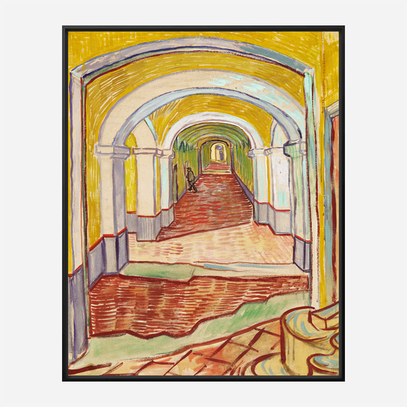 Corridor in the Asylum by Vincent Van Gogh Art Print