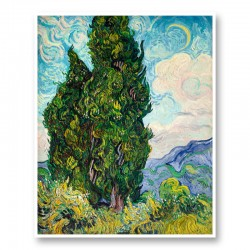 Cypresses by Vincent Van Gogh Art Print