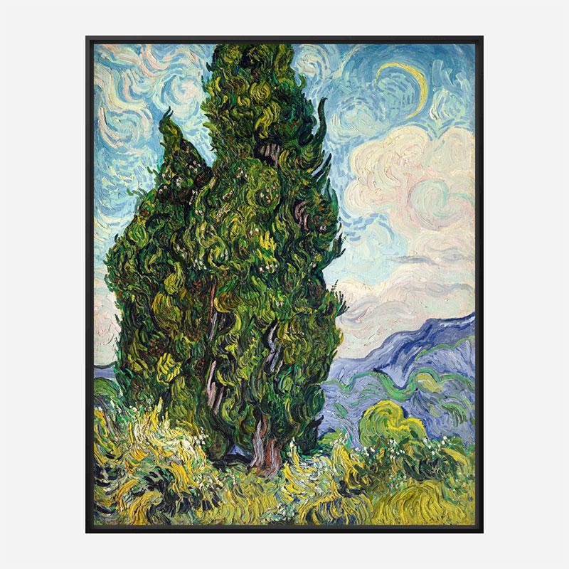 Cypresses by Vincent Van Gogh Art Print