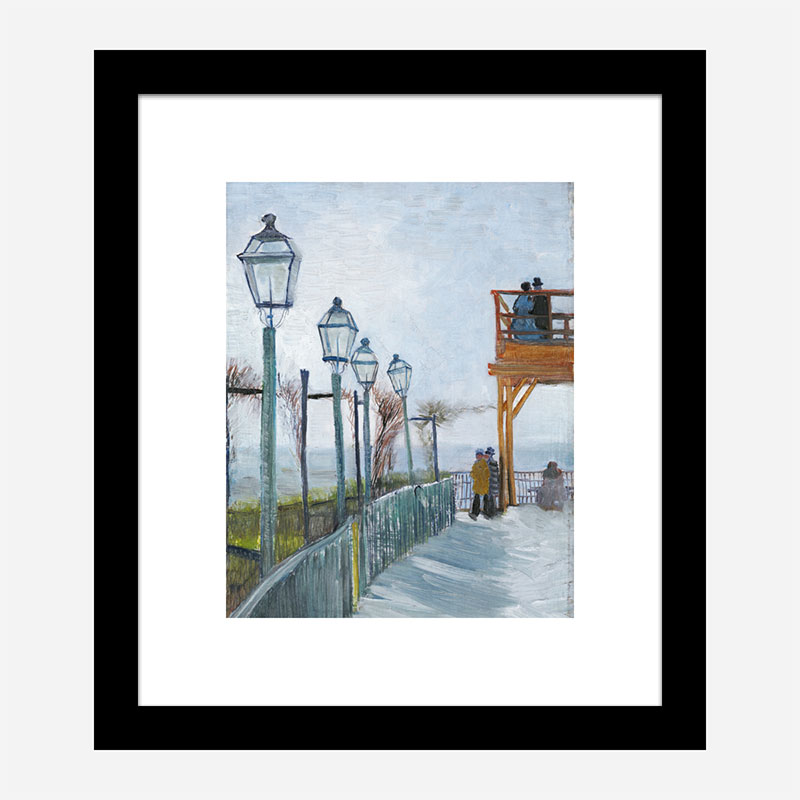 Terrace and Observation Deck at the Moulin de Blute-Fin by Vincent Van Gogh Art Print