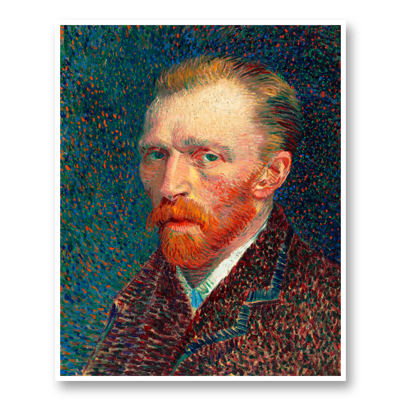 Self-Portrait 1887 by Vincent Van Gogh Art Print