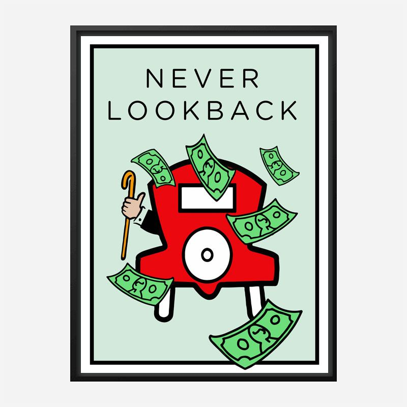 Never Look Back Art Print