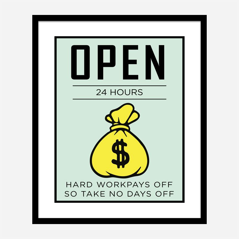 Open 24 hours Art Print