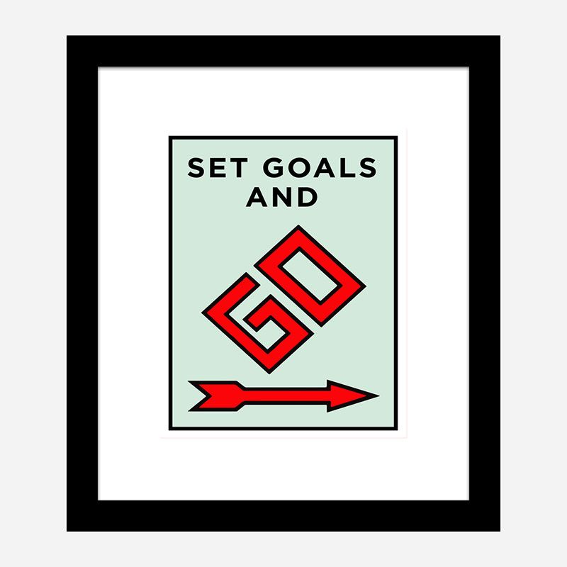 Set Goals Art Print