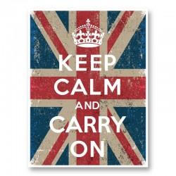 Keep Calm and Carry On Union Jack Art Print