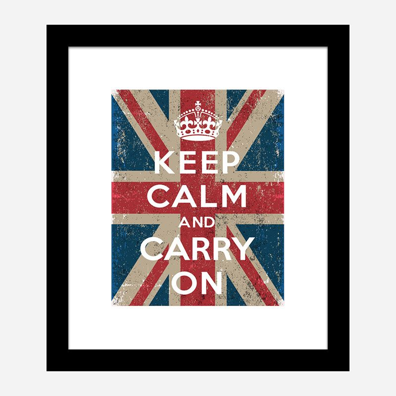Keep Calm and Carry On Union Jack Art Print