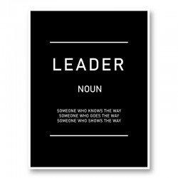 Leader Motivational Art Print