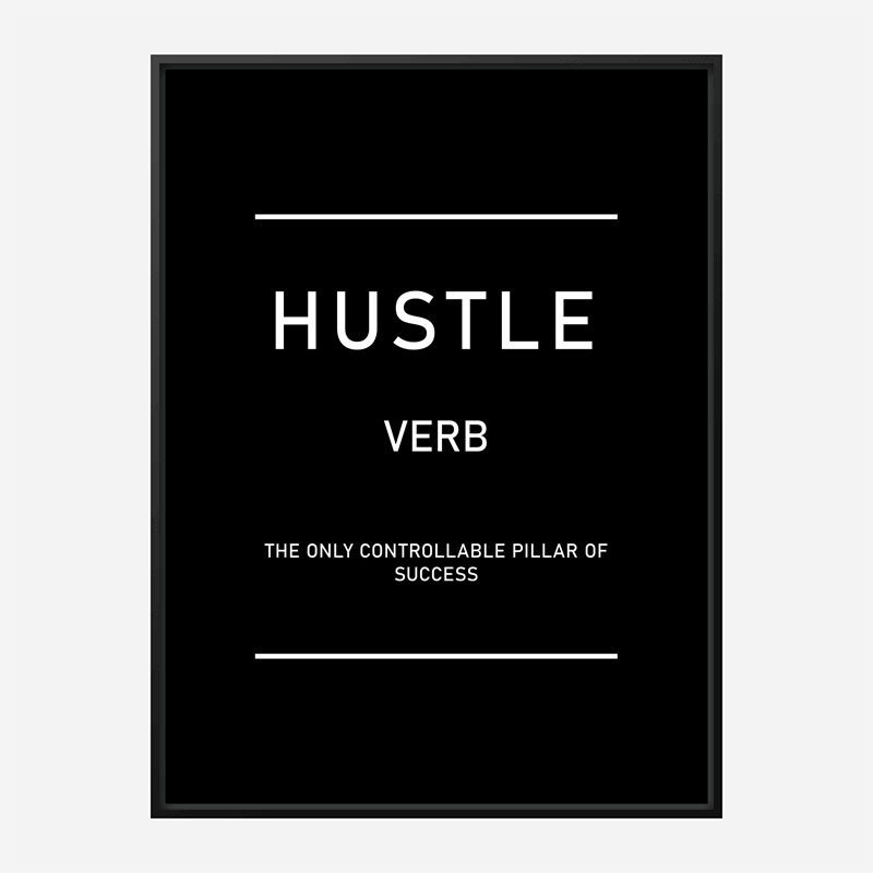 Hustle Motivational Art Print