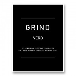 Grind Motivational Art Print