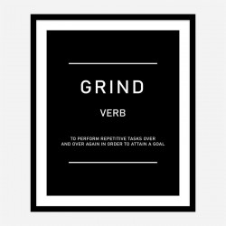Hustle Motivational Art Print
