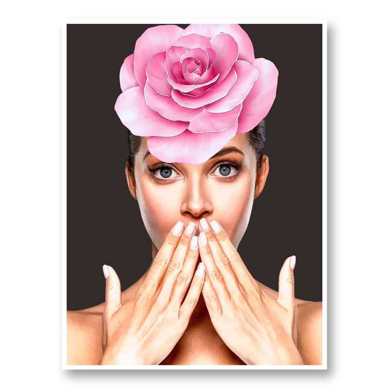 Pink Flower Head Art Print
