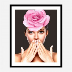 Pink Flower Head Art Print