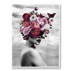 Rose Head Art Print