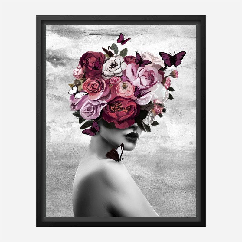 Rose Head Art Print