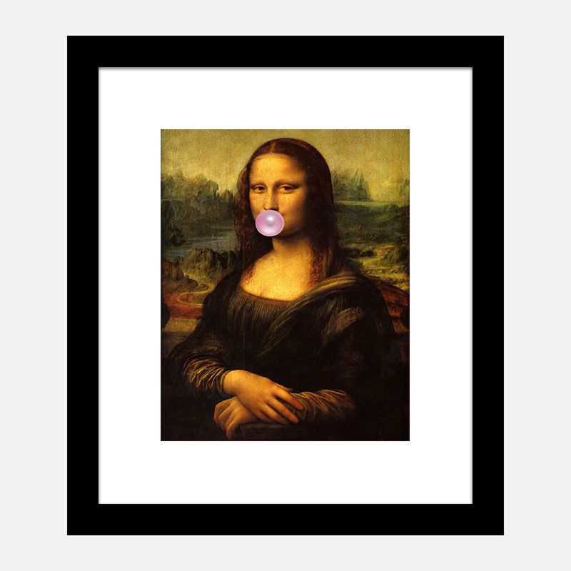 Mona Lisa Bubble Gum Art Print