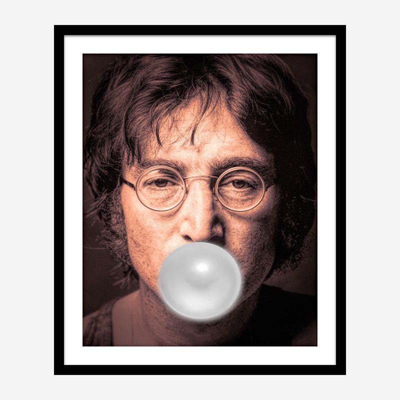John Lennon Silver Bubble Gum Art Print