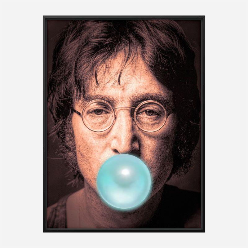 John Lennon Blue Bubble Gum Art Print