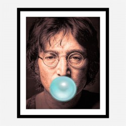 John Lennon Blue Bubble Gum Art Print