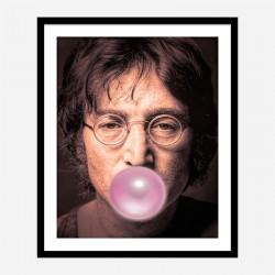 John Lennon Pink Bubble Gum Art Print