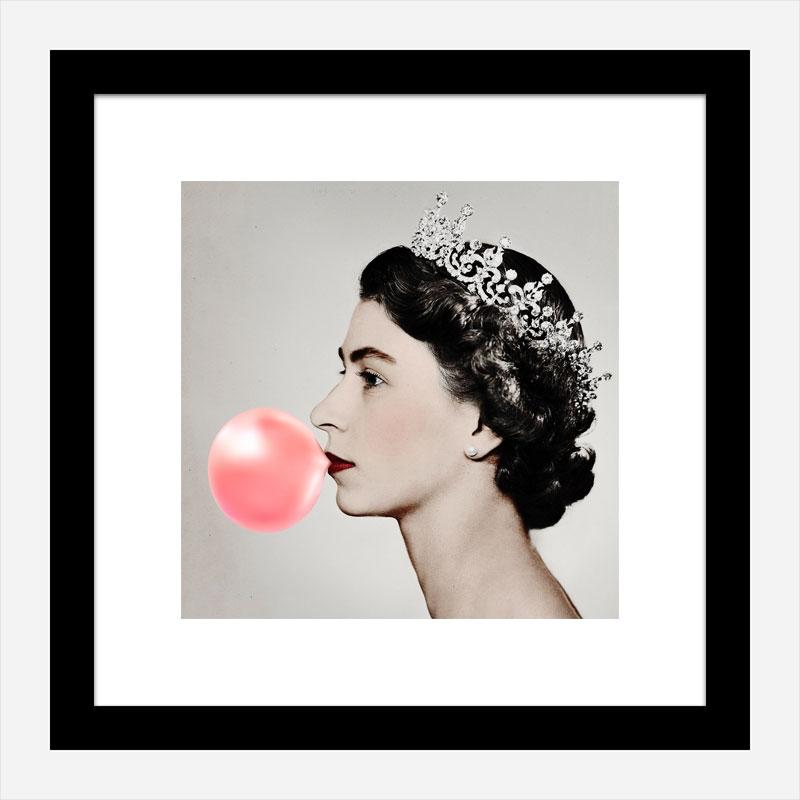 Queen Elizabeth Pink Bubble Gum Art Print