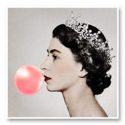 Queen Elizabeth Pink Bubble Gum Art Print