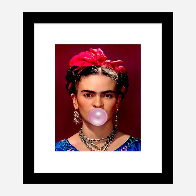 Frida Kahlo Bubble Gum Art Print