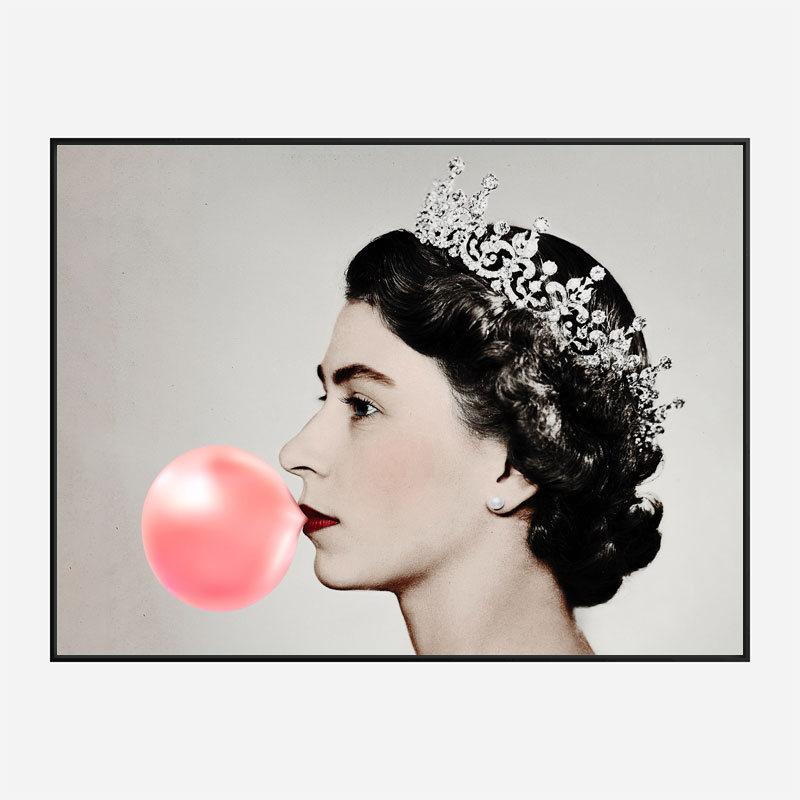 Queen Elizabeth II Bubble Gum Art Print