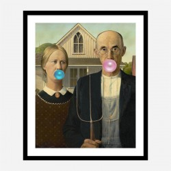 American Gothic Bubble Gum Art Print