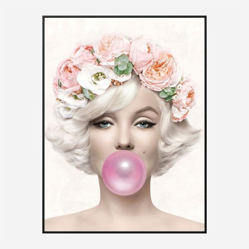 Marilyn Monroe Bubble Gum Art Print