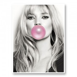 Kate Moss Bubble Gum Art Print