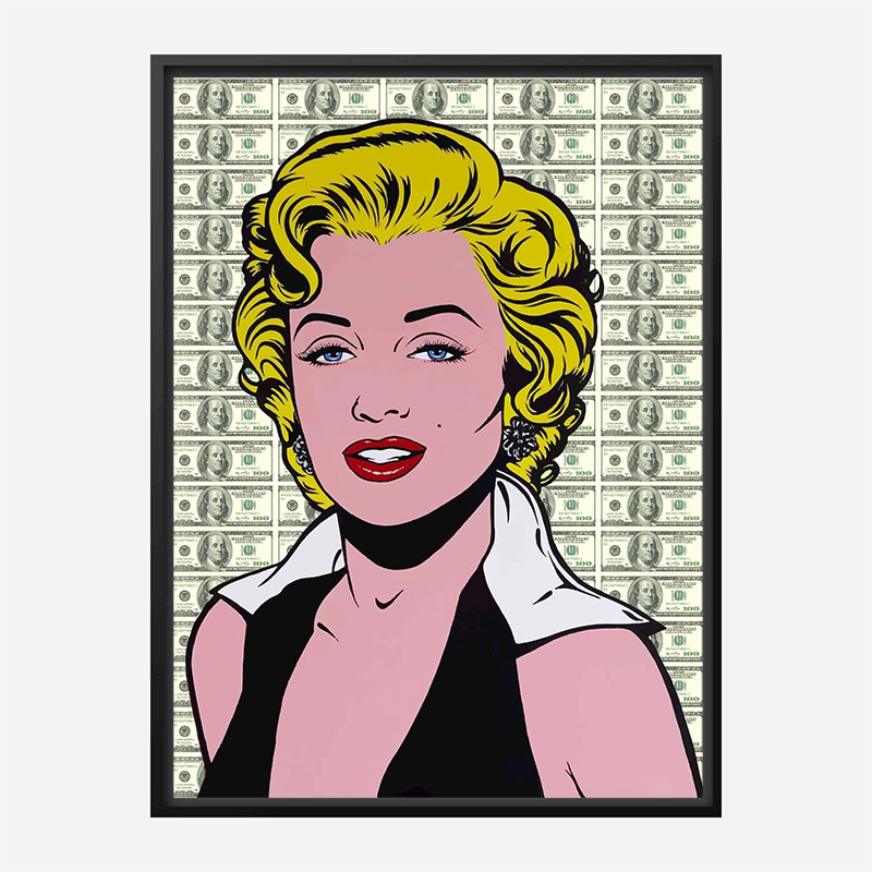 Marilyn Monroe 100 Dollars Pop Art Print