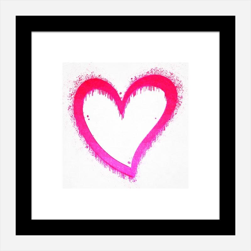 Pink Heart Art Print