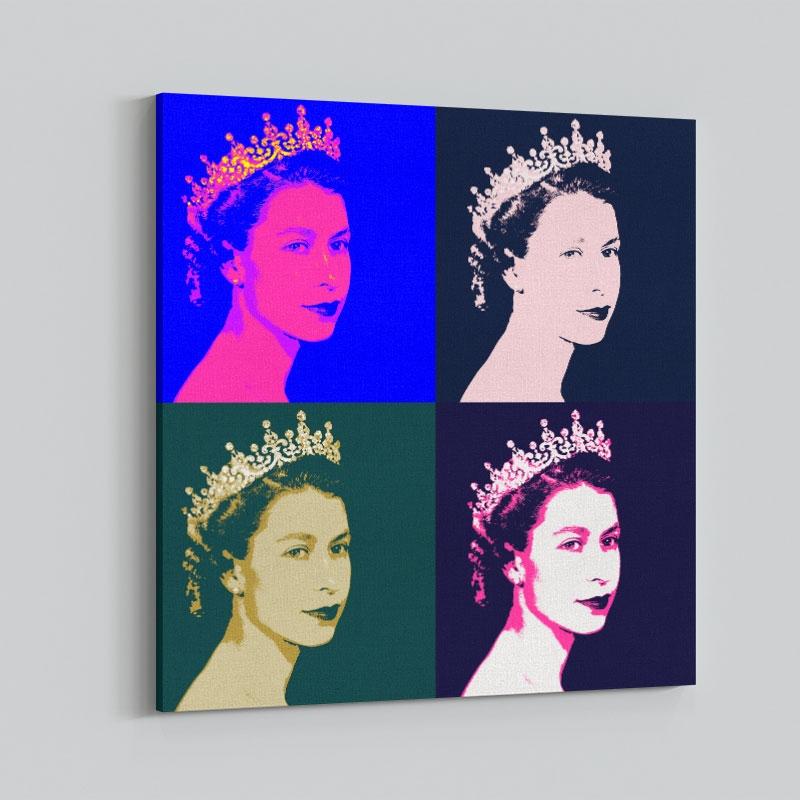 Queen Elizabeth Pop Art Print