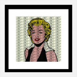 Marilyn 100 Dollars Pop Art Print