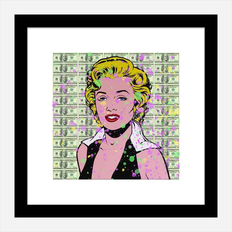 Marilyn 100 Dollars Splash Pop Art Print