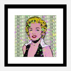 Marilyn 100 Dollars Splash Pop Art Print