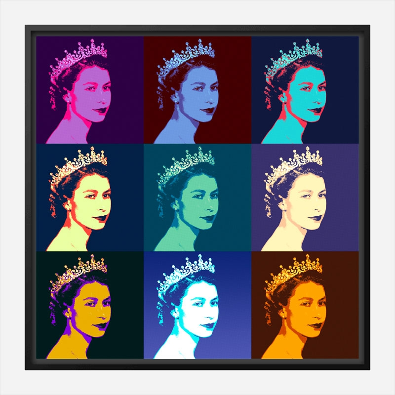 Queen Elizabeth Pop Art Print
