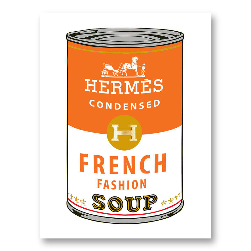 Hermes Soup Pop Art Print