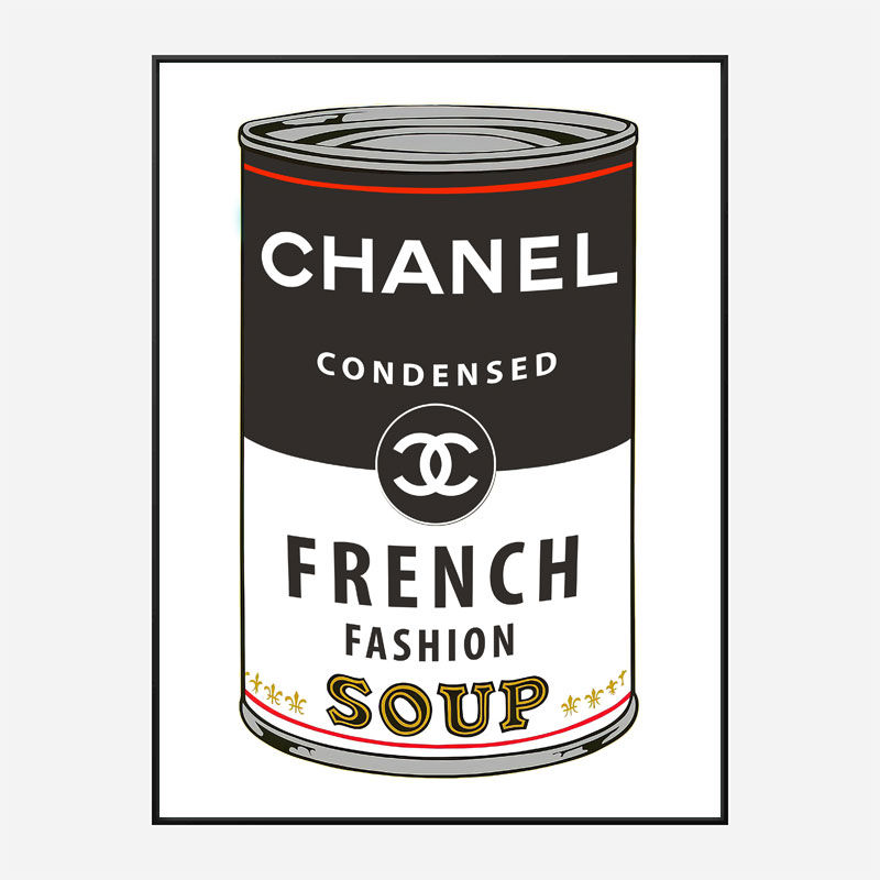Chanel Soup Pop Art Print