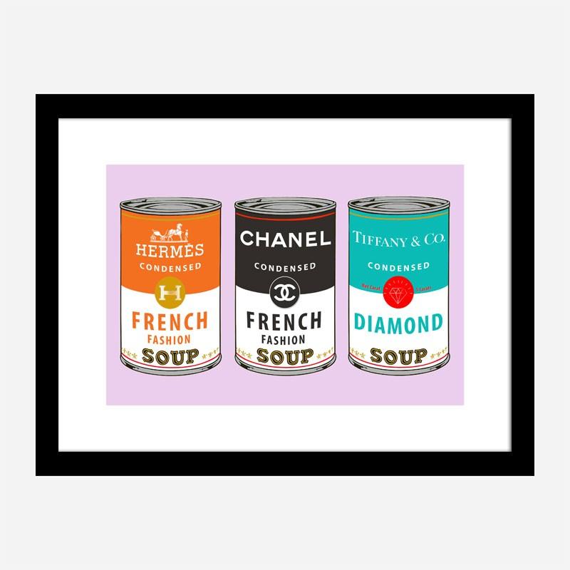 Fashion Soups on Pink Wall Art
