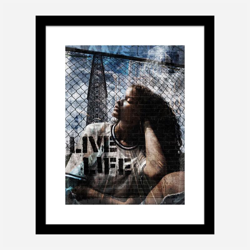 Live Life Art Print