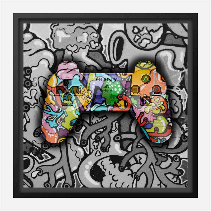 Gamer Graffiti Art Print