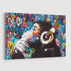 DJ Gorilla Love Wall Art