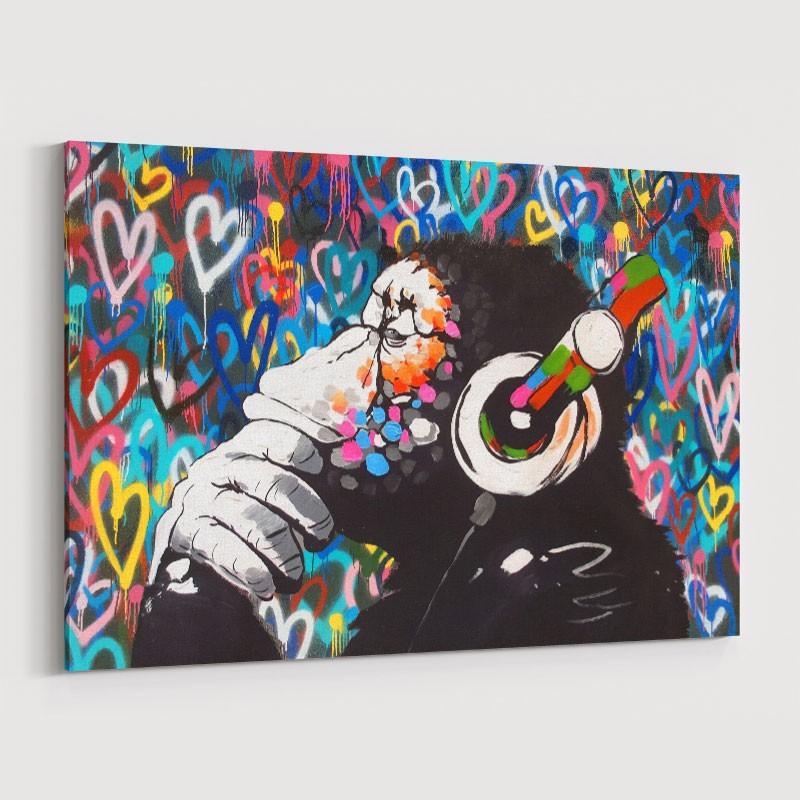 DJ Gorilla Love Wall Art