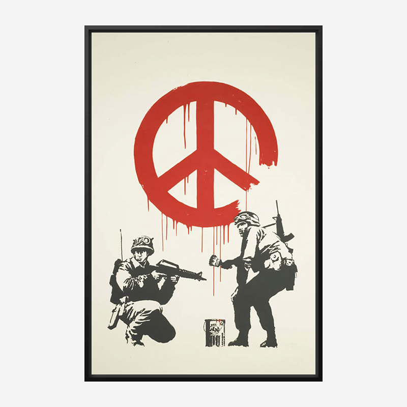 CND Soldiers Banksy Art Print